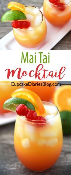 Try pairing this refreshing Mai Tai Mocktail with PF Chang's Home Menu Family-Size Orange Chicken on #WokWednesday! #sponsored