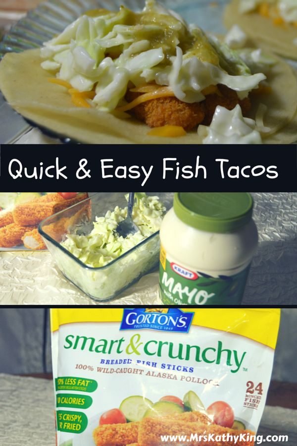 Looking for quick and easy fish taco recipes? Here're Mrs. Kathy King's  fish tacos recipe using Gorton's Smart & Crunchy Fish Fillets. We are sure you will love them as much as our family does.