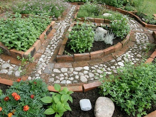 herb circle herb garden Gardens outdoors and Greenery