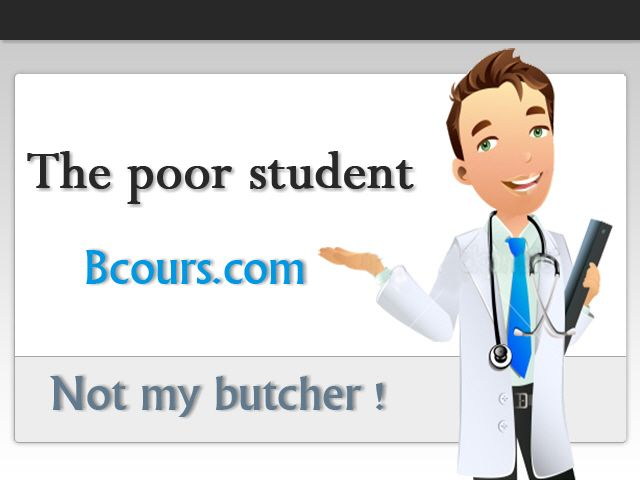 The poor student