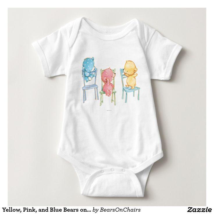 Bears On Chairs. Baby, bebé. Regalos, Gifts. #camiseta #tshirt