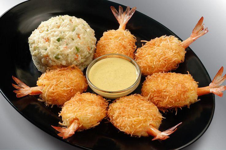 camarones apanados con coco #comidas