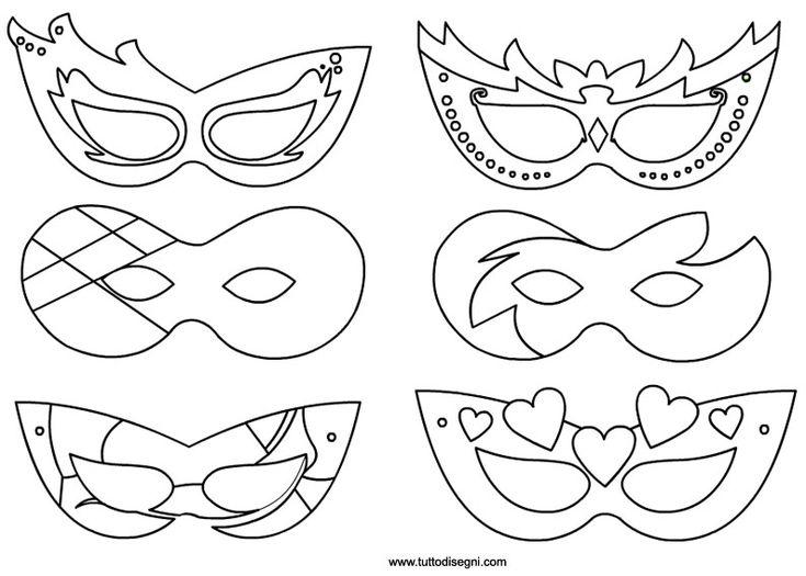 Maschere Carnevale da colorare