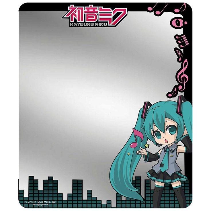 Hatsune Miku Chibi Pose Music Notes Equalizer Locker Mirror One Size
