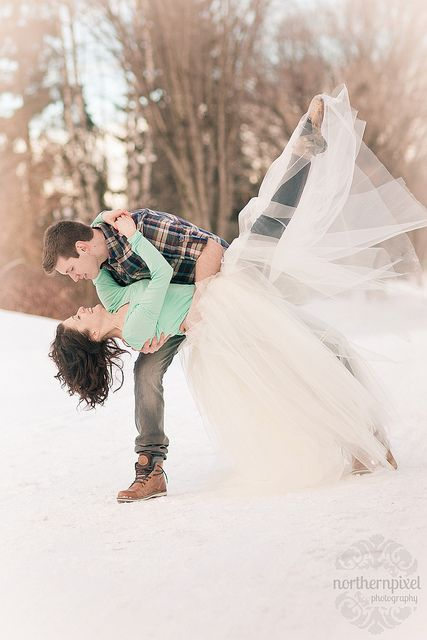 Winter Ballet Engagement Session by Shauna Stanyer (Northern Pixel), via Flickr....this would also look so perfect on the beach .