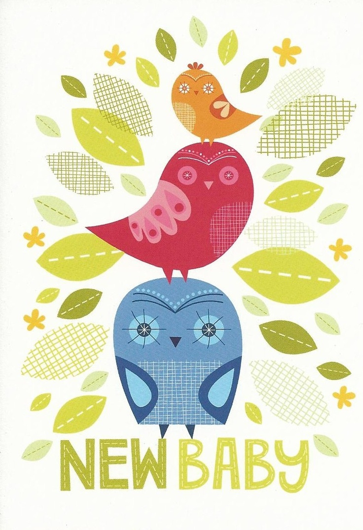 New Baby card from Little Red Owl