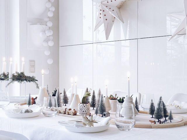 Auf der Mammilade n-Seite des Lebens   Personal Lifestyle Blog   Kreative und originelle DIY-Dekoration für den Familientisch zu Weihnachten   Holzeisenbahn, Pflanzen und Miniatur-Landschaft als winterlich-weihnachtliche Tischdeko-Idee für Familien