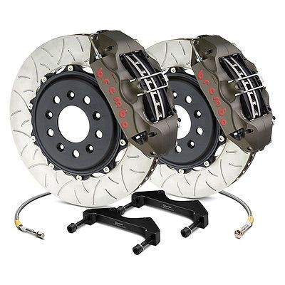 Brembo 4K2.7002A - Racing Series Slotted Type III 2-Piece Rotor Rear Brake Kit