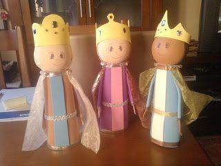 día de Magos Reyes artesanía para niños | Tres reyes magos creados en la web Mis manualidades . Parece que el ...