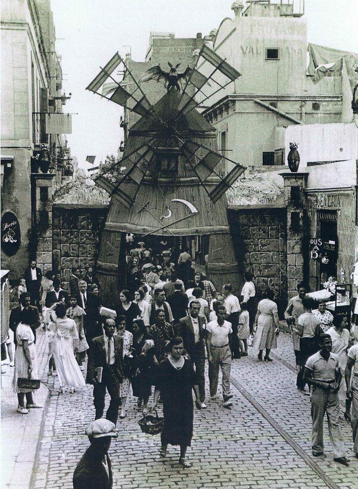 BARCELONA , ANTIGUA..     festes de gràcia 1934...