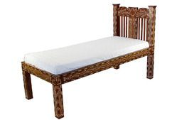Antique++Vintage+Teak+Bone+Inlay+Beds