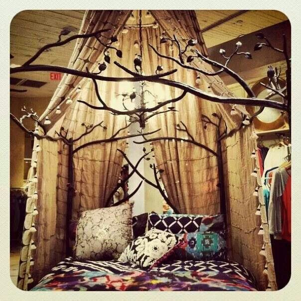 Canopy And Tree Bed Frame Home Pinterest
