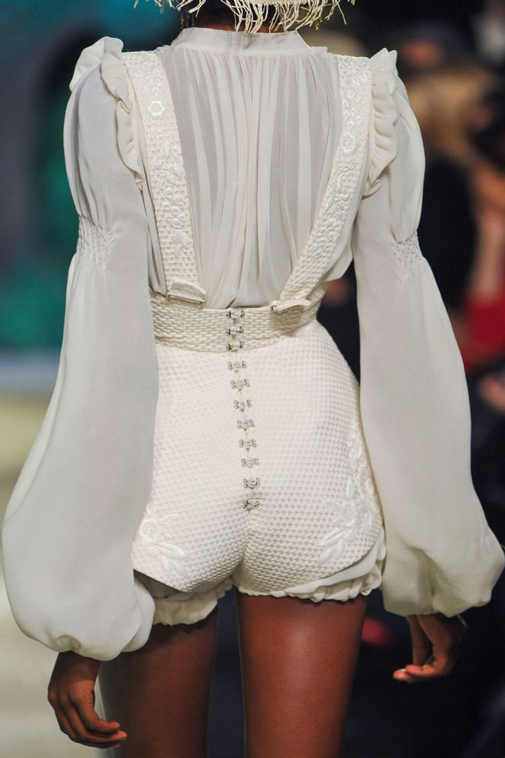Ulyana Sergeenko at Couture Spring 2013 (Details)