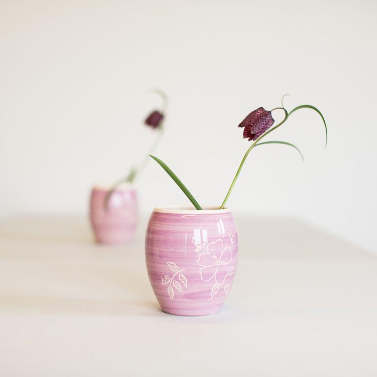Blomstervase, nyperosedekor
