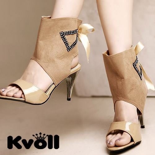 Wholesale Kvoll Designer Sandal L2589 Product Details: Color: Black,  Apricot Heel: 8cm