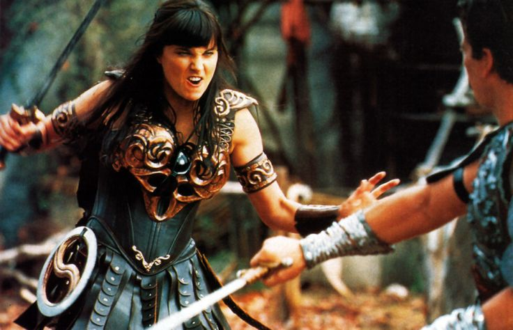 Good to see Xena could finally afford some functional armor.