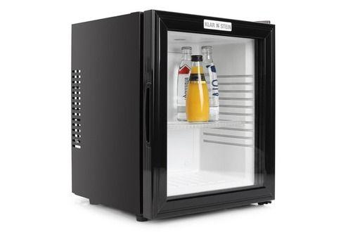 Refrigerateur bar Klarstein Klarstein Frigo de bar silencieux avec porte en verre - Réfrigérateur Minibar design (0dB, 36 litres, classe B) - Châssis acier noir mat