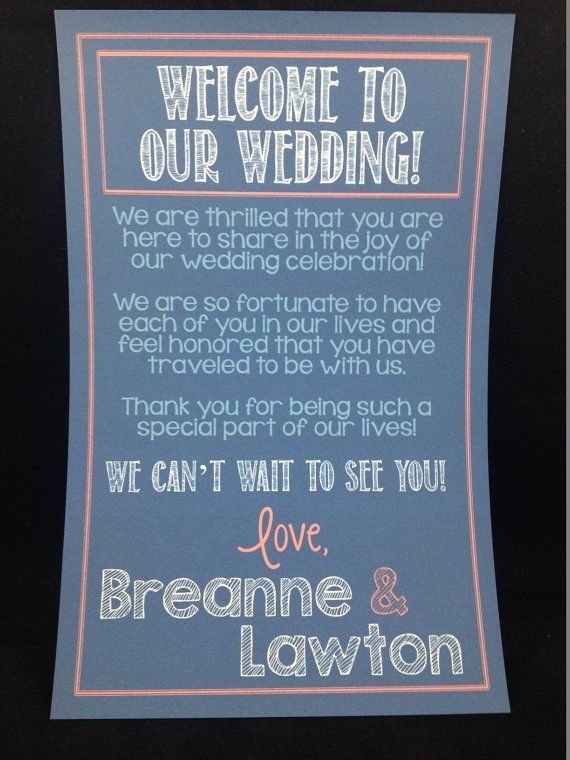Sample thank you note for wedding gift bags