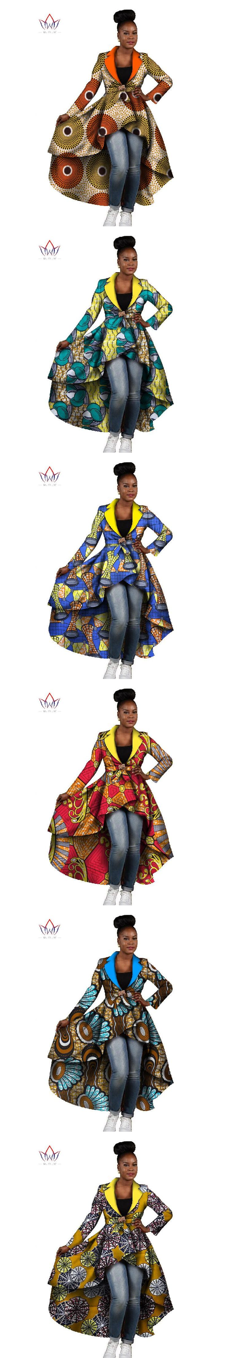 BRW Spring Winter Traditional African Clothes for Women Dashiki African Dress Outwear Party Office Bazin Riche Dresses WY443