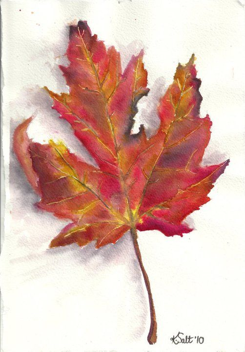leaves paintings | My leaf painting done in inks