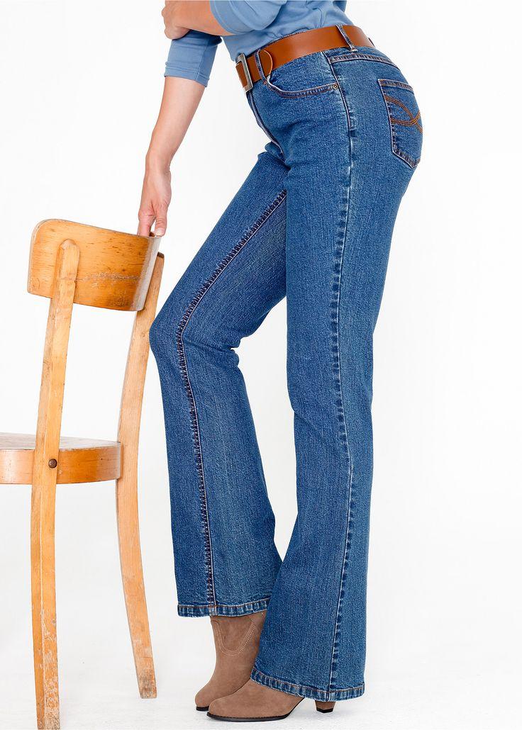 Calça jeans BOOT CUT com stretch azul delavé encomendar agora na loja on-line bonprix.de  R$ 129,00 a partir de Em corte jeans clássico! A calça boot cut ...