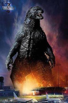 Sej plakat med Godzilla
