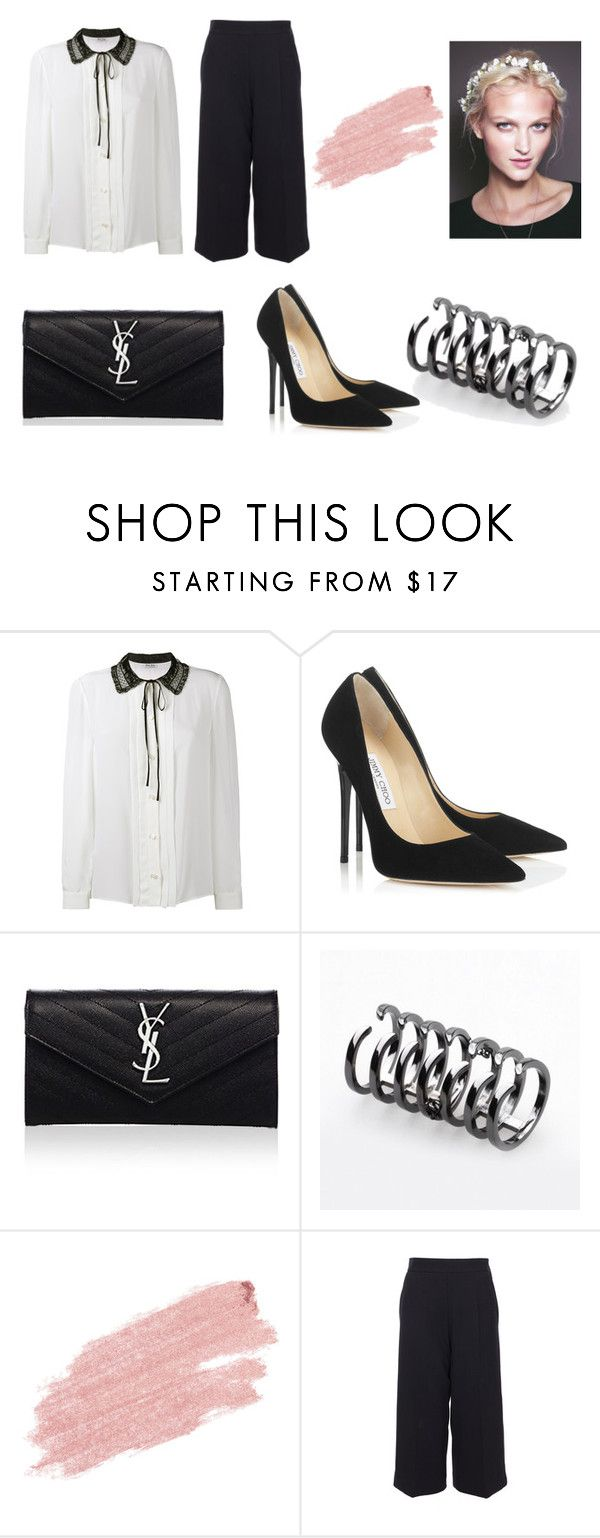 """UNSTOPPABLE"" by laura-melissa-cortes on Polyvore featuring moda, Miu Miu, Jimmy Choo, Yves Saint Laurent, Federica Tosi, Jane Iredale y Marni"