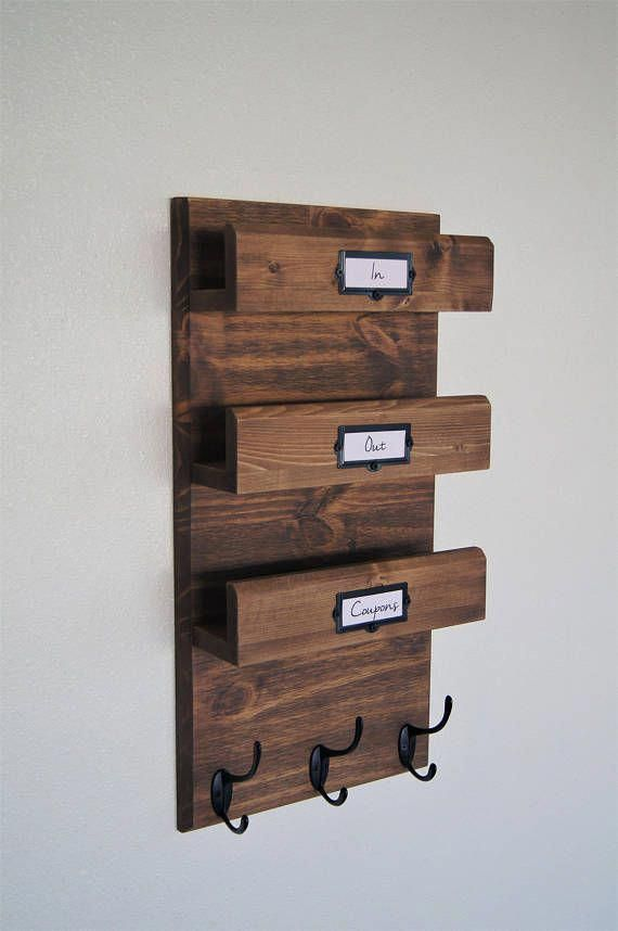 Mail Storage And Large Coat Hooks Keep Your Entryway Stylishly Organized Our Handcrafted Mail Ledge And Coat Mail Organizer Wall Mail Organizer Diy Coat Rack