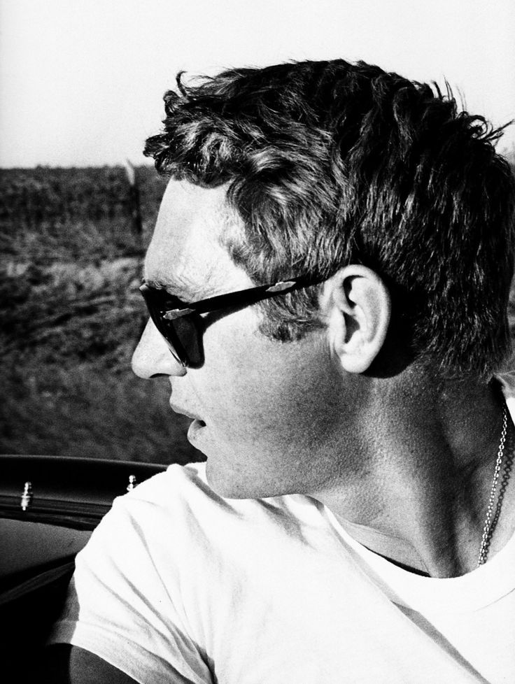 Steve McQueen. Looking back. Through the lens of William Claxton.