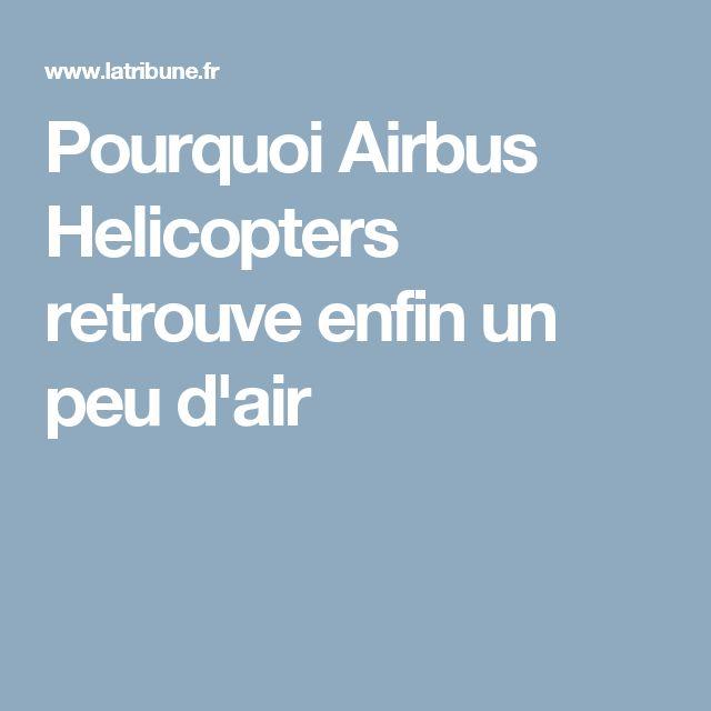 Pourquoi Airbus Helicopters retrouve enfin un peu d'air