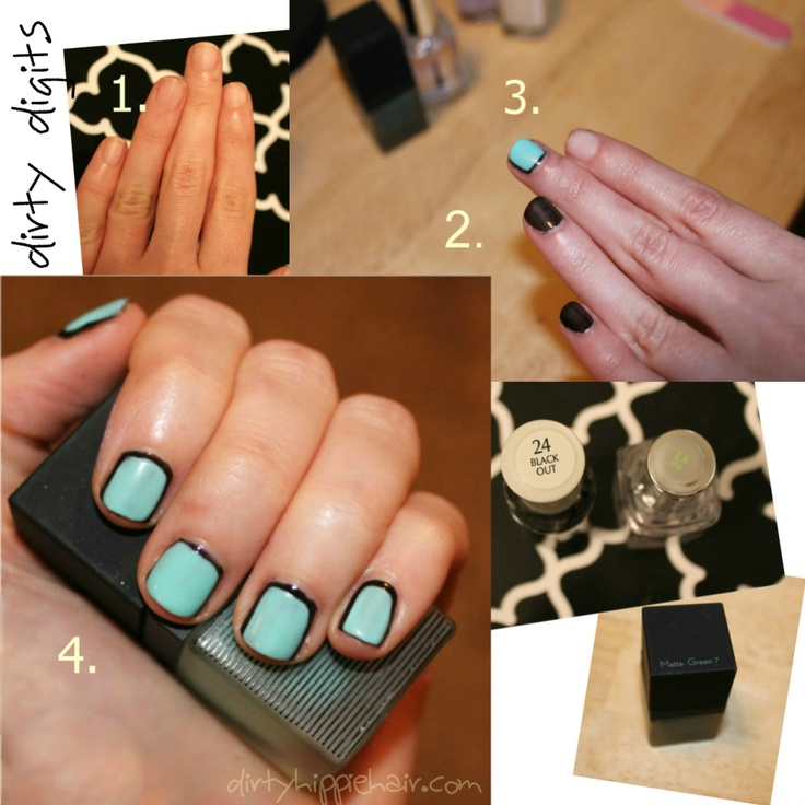 DIY two tone nails @ dirtyhippiehair.com