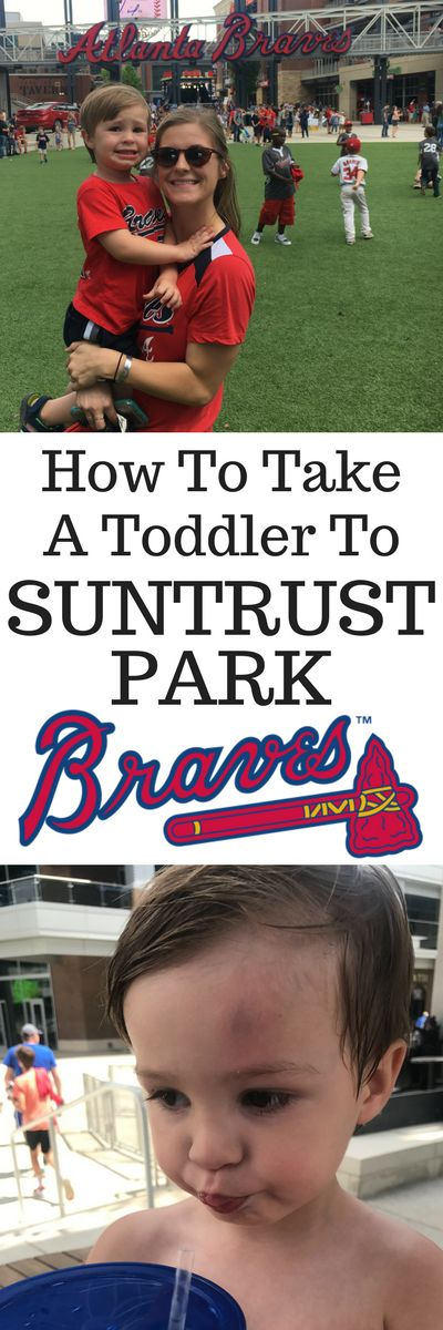 Here's everything you need to know about taking a toddler to Suntrust Park for the Braves Game!   How to take a toddler to a braves game | Taking a baby to the braves game | Can I take a stroller to the braves game | Atlanta Braves | What to Pack | How to take a child to a braves game | Share Your Photos