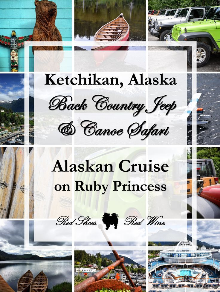 All about our Back Country Jeep & Canoe Safari Excursion in Ketchikan, Alaska during our Alaskan Cruise on Ruby Princess last summer! (port highlights, inside passage, carnival, royal caribbean, msc, skagway, glacier, celebrity, seattle, land and sea, holland America, tour, beer, salmon, chowder, cruises, bucket list, hike, canoeing, tongass national forest, harriet hunt lake, southeast Alaska)