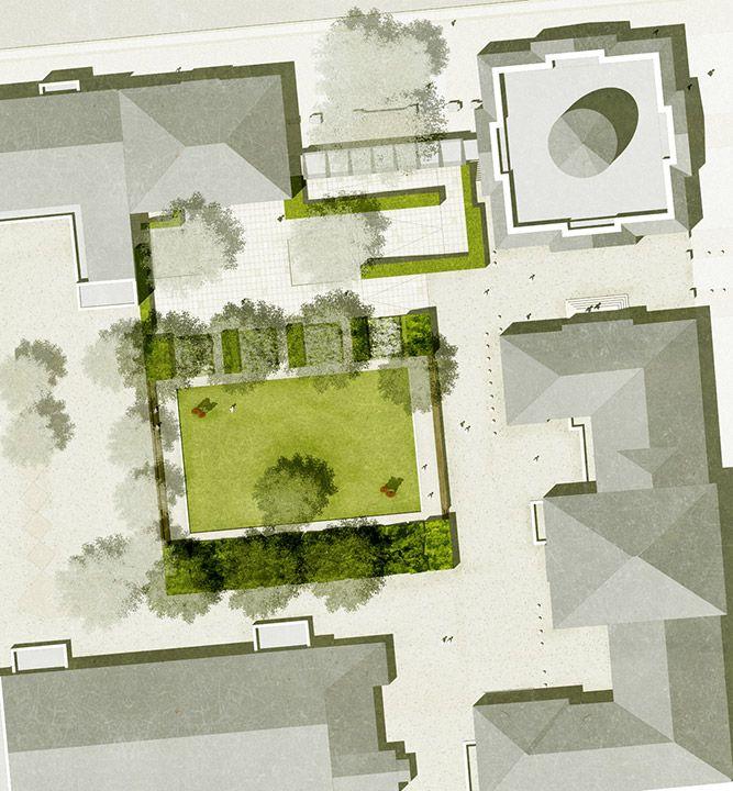Sculpture Garden Museum Berggruen by Planorama Landschaftsarchitektur (Maik Böhmer and Gerd Holzwarth, Project Team: Maik Böhmer, Ulf Schrader, Sebastian Meyer, Krischan Payne) - Berlin – Charlottenburg