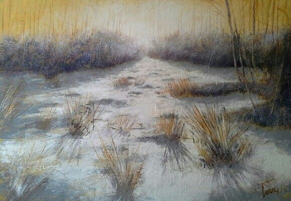 Mattino d'inverno acrilico su mdf 70x50 Luigi Torre painter