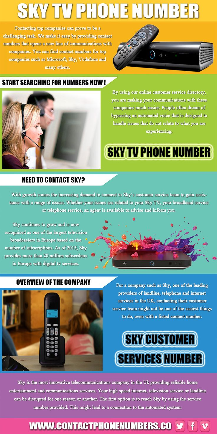 Sky gives customers options to choose what suits their pockets and lifestyle by offering packages that can be tailored to meet the demands of customers. Try this site https://www.contactphonenumbers.co/ for more information on sky tv phone number. Sky tv phone number is a gateway to connecting with a representative where your issues can be discussed and resolved. Follow Us: http://skycontactnumber.strikingly.com/
