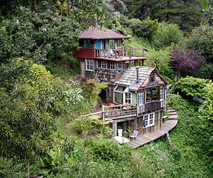 Rainbows & Dragons Hike Inn in Big Sur is the most unique vacation rental in California. Put on your hiking boots.
