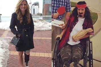 This Boston Marathon Bombing Survivor Nailed Her Lieutenant Dan Costume