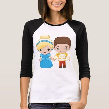 Cinderella and Prince Charming Emoji 2 T-Shirt - click to get yours right now!