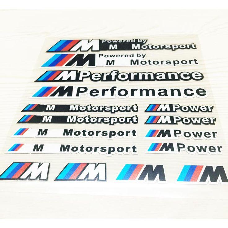 Cheap (10) Car Styling / / / M M Performance Motorsport poder M estilo Decal Sticker pegatinas reflectantes para BMW VW X 1 3 5 6 E36 E39, Compro Calidad Pegatinas directamente de los surtidores de China:                    ¿ Por qué nosotros?                                  Elegimos Taiwán productos de materiales importad