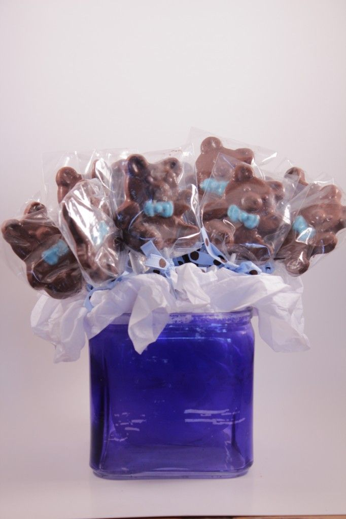 Baby Shower Favors Chocolate ~ Teddy bear baby shower favor make your own chocolate lollipop