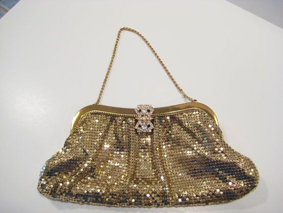 VINTAGE Whiting and Davis Gold Mesh Purse by VintageBoxFashions, $129.00