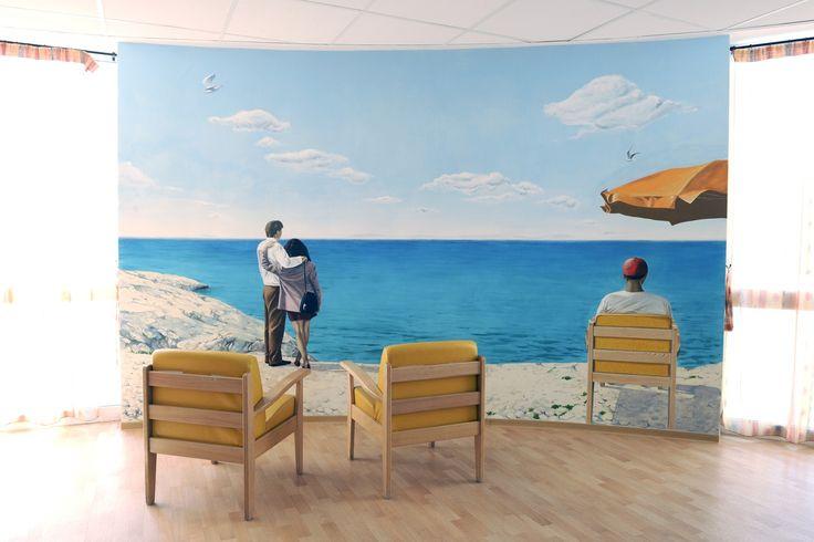 Trompes l 39 oeil et peinture d corative peinture la chaux for Decoration murale fausse fenetre
