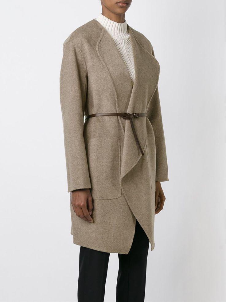 Ванесса Бруно поясом Пальто Wrap - Сметанин - Farfetch.com