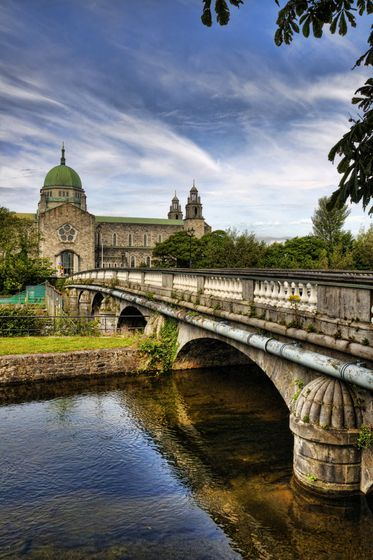 Salmon Weir Bridge, Galway City, County Galway, Ireland