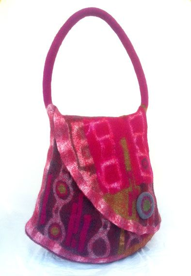 Canberra Region Feltmakers - Mosaic bags with Pam de Groot
