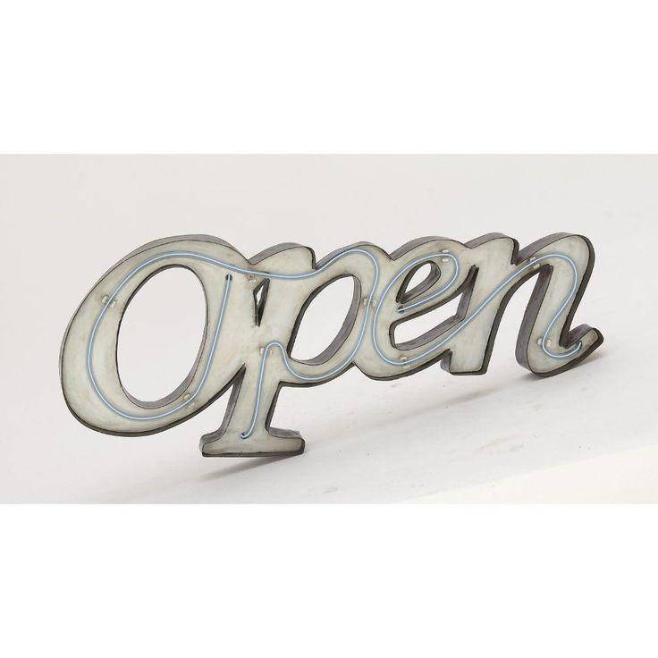 Unique Metal Led Open Sign