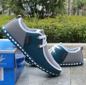 Lace-up PU Leather Casual Shoes England Style Fashion Breathable Mens Shoes #MensFashionCasual
