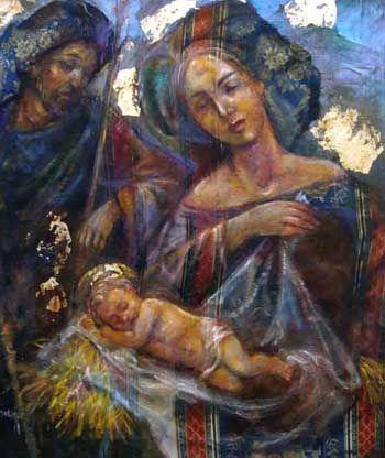 """Sebastiano Caracozzo, Maria di Nazareth - """"I soggetti dipinti da Sebastiano sono vari, ma non per questo smarriscono continuità espressiva; ..."""