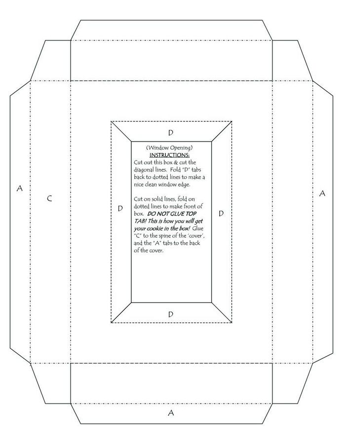 greeting card box template